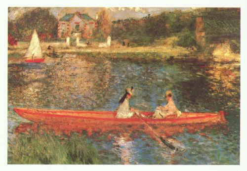 Pierre Renoir Boating on the Seine Germany oil painting art