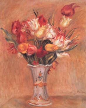 Pierre Renoir Tulipes Germany oil painting art