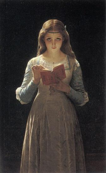 Pierre-Auguste Cot Pause for Thought oil painting image