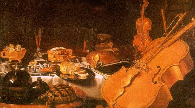 Pieter Claesz Still Life with Musical Instruments oil painting image