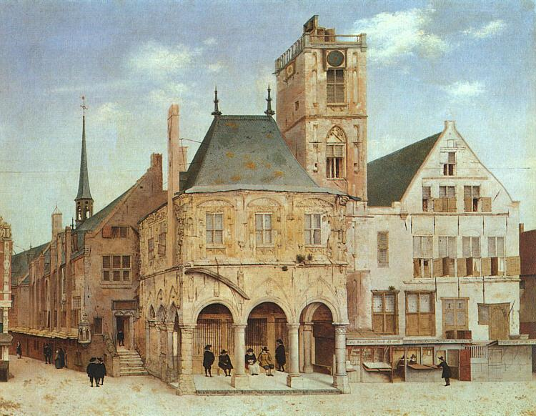 Pieter Jansz Saenredam The Old Town Hall in Amsterdam Germany oil painting art