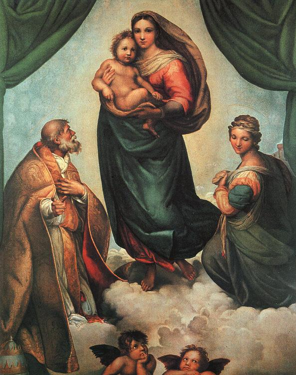 Raphael The Sistine Madonna Germany oil painting art