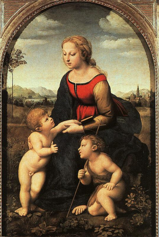Raphael The Virgin and Child with John the Baptist Germany oil painting art