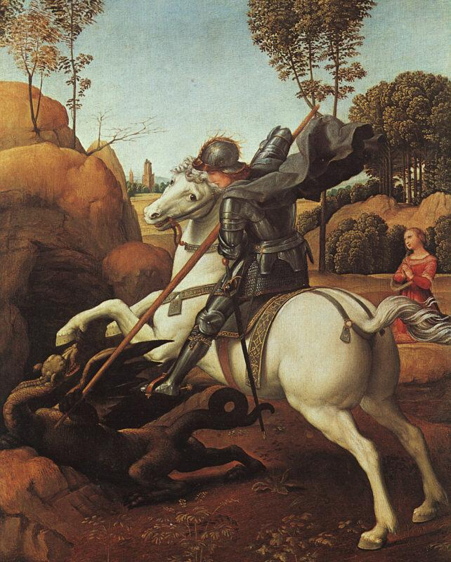 Raphael St.George and the Dragon Germany oil painting art