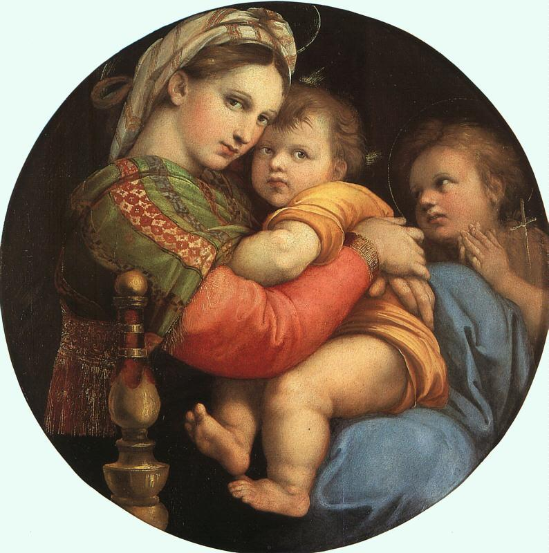Raphael THE MADONNA OF THE CHAIR or Madonna della Sedia Germany oil painting art