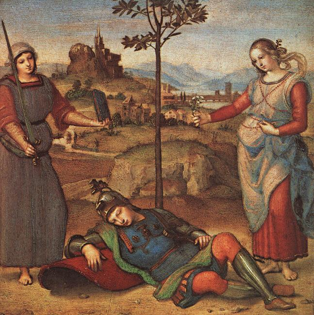 Raphael The Knights Dream Germany oil painting art