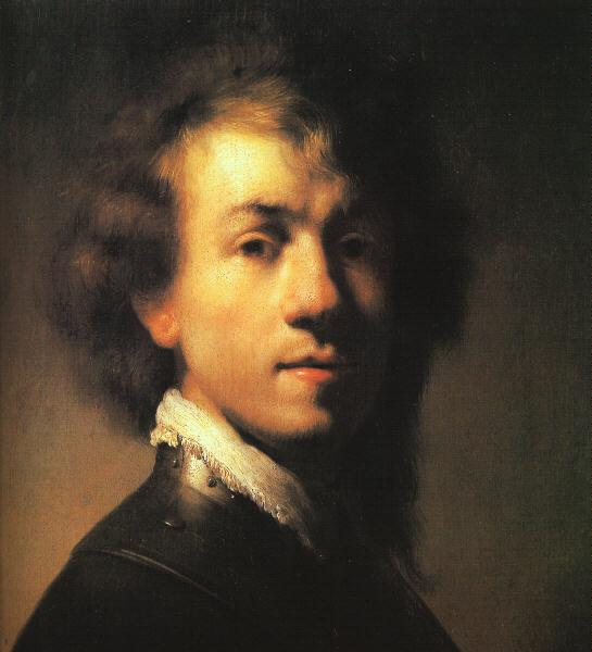 Rembrandt Self Portrait with Lace Collar Germany oil painting art