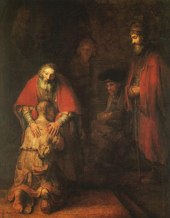 Rembrandt The Return of the Prodigal Son Germany oil painting art