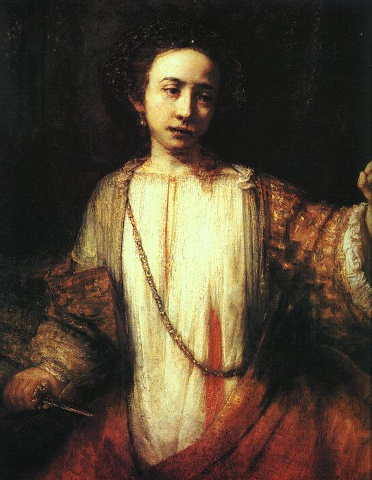 Rembrandt Lucretia Germany oil painting art