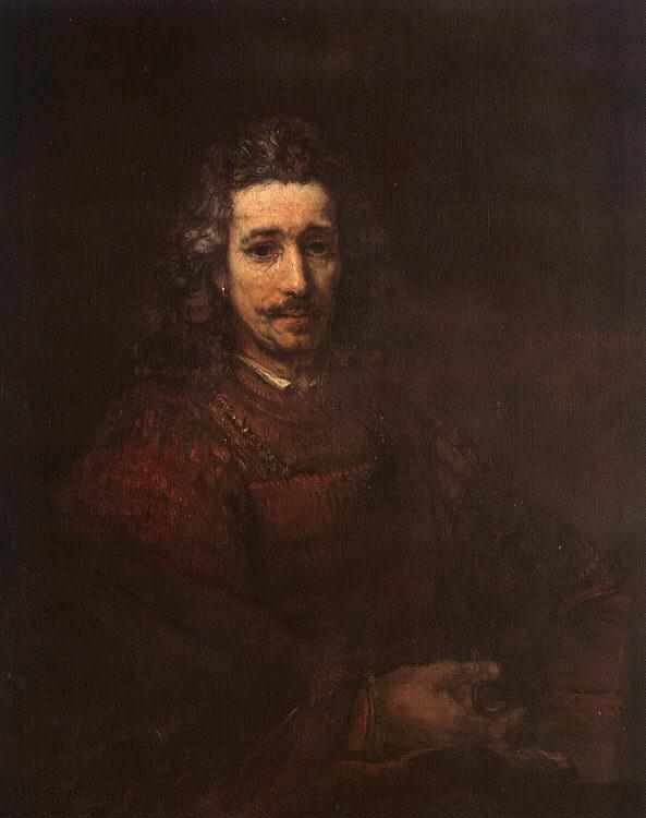 Rembrandt Man with a Magnifying Glass Germany oil painting art