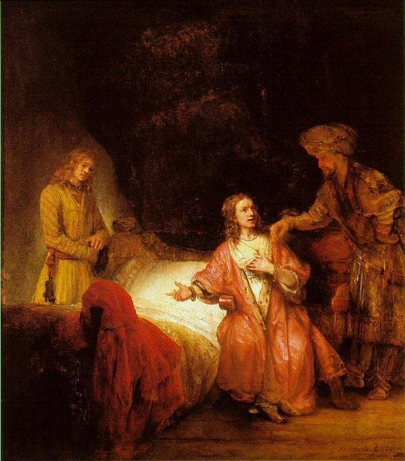 Rembrandt Joseph Accused by Potiphar's Wife Germany oil painting art