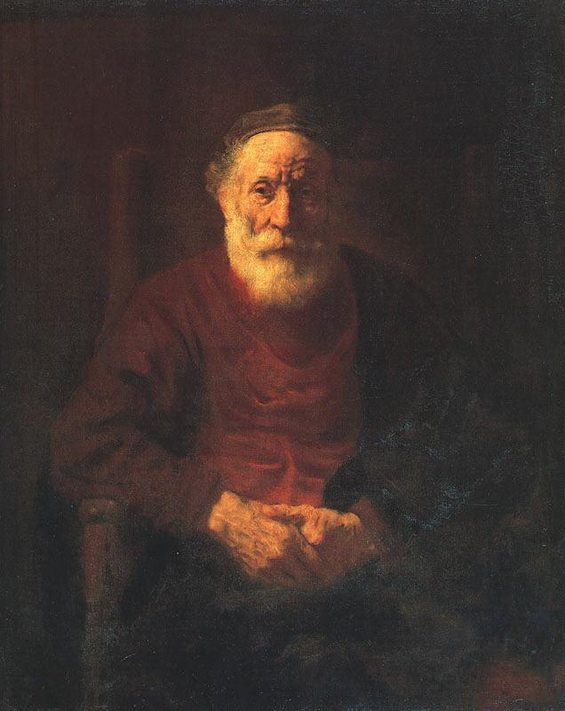 Rembrandt Portrait of an Old Jewish Man Germany oil painting art