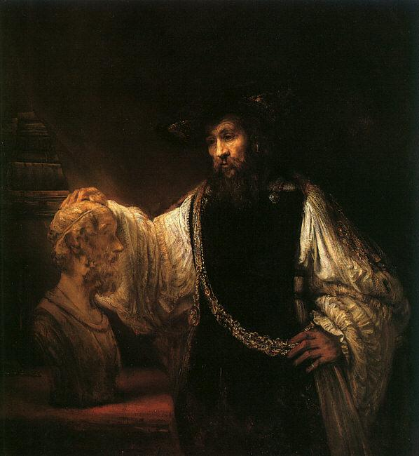 Rembrandt Aristotle with a Bust of Homer Germany oil painting art