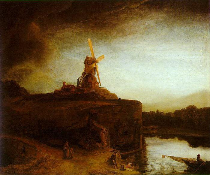 Rembrandt The Mill Germany oil painting art
