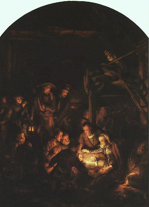 Rembrandt Adoration of the Shepherds Germany oil painting art