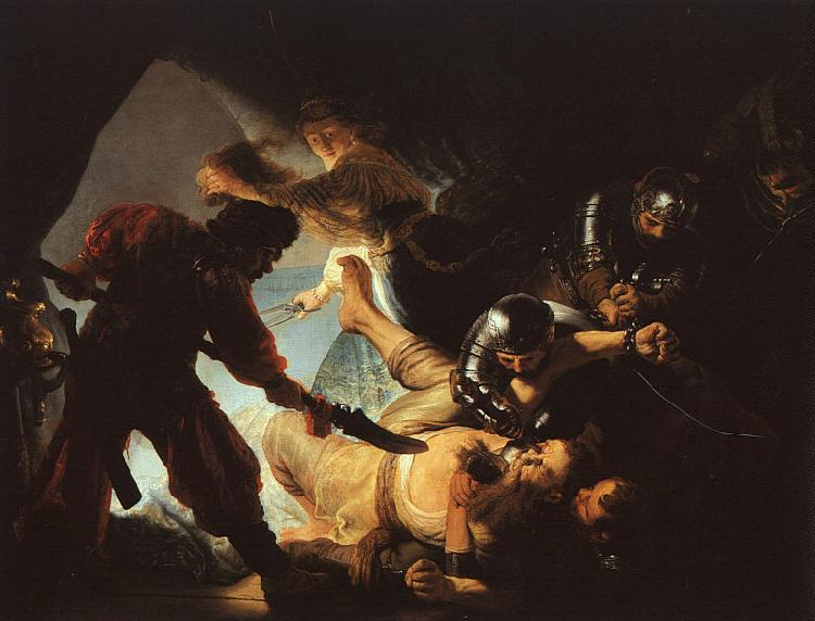 Rembrandt The Blinding of Samson Germany oil painting art