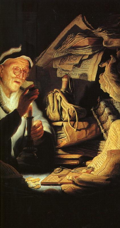 Rembrandt The Rich Old Man from the Parable Germany oil painting art