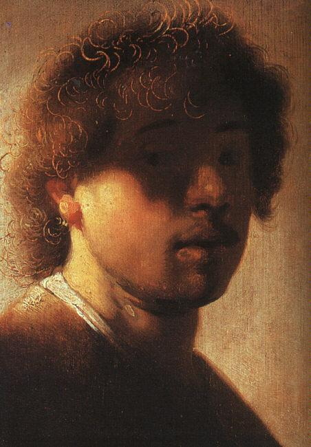 Rembrandt Self Portrait  ffcx Germany oil painting art