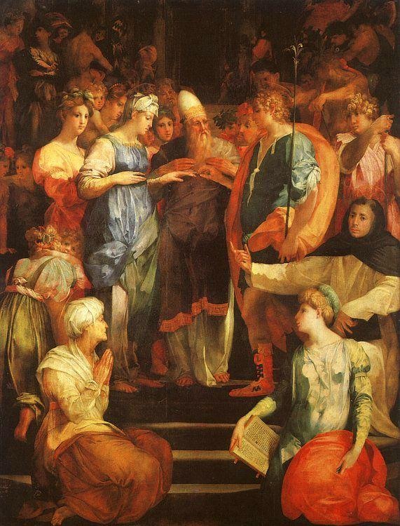 Rosso Fiorentino Marriage of The Virgin Germany oil painting art