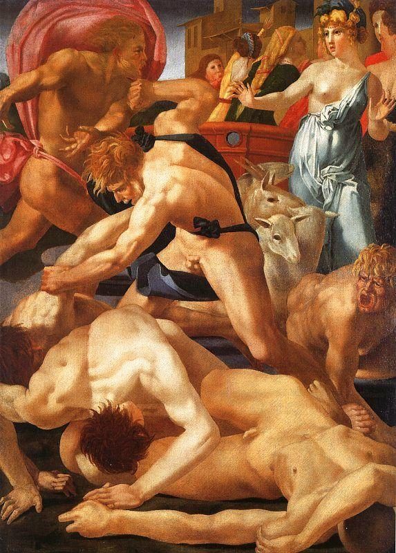 Rosso Fiorentino Moses Defending the Daughters of Jethro Germany oil painting art