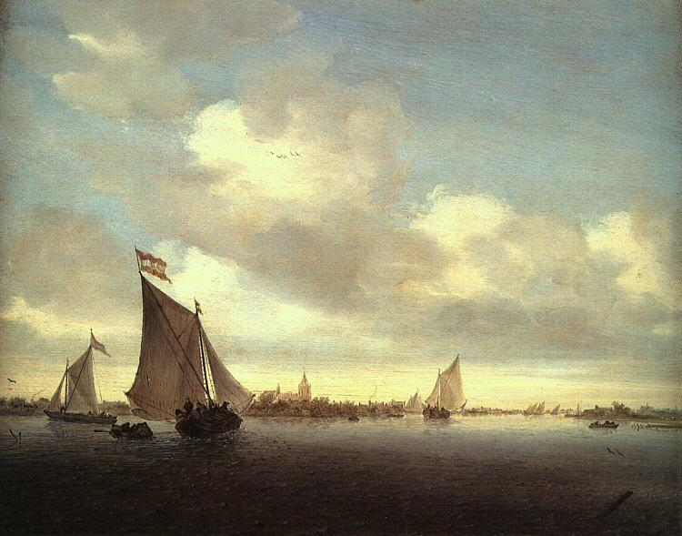 Saloman van Ruysdael Marine Germany oil painting art