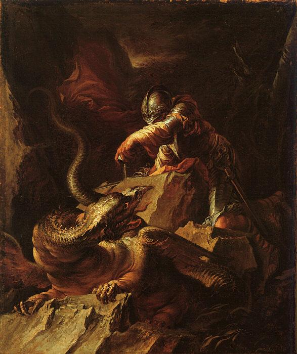 Salvator Rosa Jason Charming the Dragon Germany oil painting art