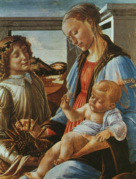 Sandro Botticelli Madonna and Child with an Angel oil painting image