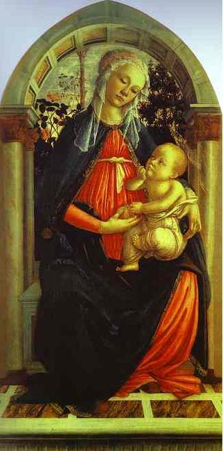 Sandro Botticelli Madonna of the Rosegarden oil painting image