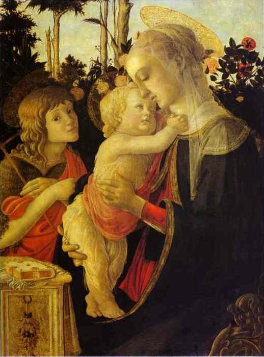 Sandro Botticelli The Virgin and Child The Virgin and Child The Virgin and Child with John the Baptist oil painting image