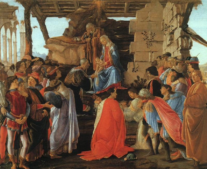 Sandro Botticelli The Adoration of the Magi oil painting image