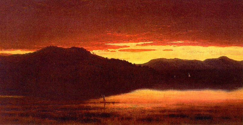 Sanford Robinson Gifford Twilight at Mt Merino Germany oil painting art