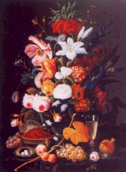 Severin Roesen Floral Still Life Germany oil painting art