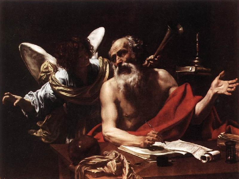 Simon Vouet St Jerome and the Angel oil painting image