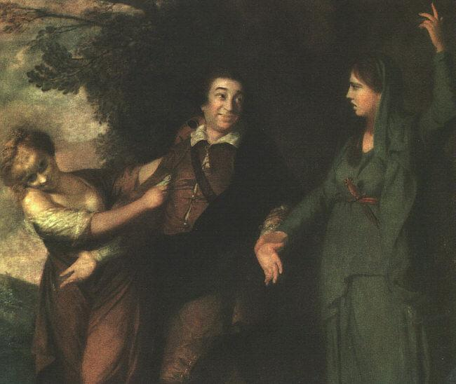 Sir Joshua Reynolds Garrick Between Tragedy and Comedy Germany oil painting art