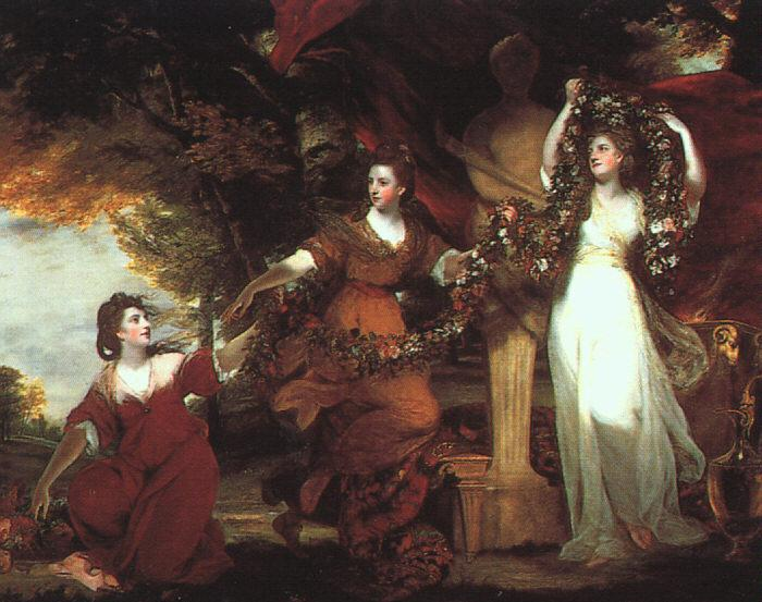 Sir Joshua Reynolds Ladies Adorning a Term of Hymen Germany oil painting art