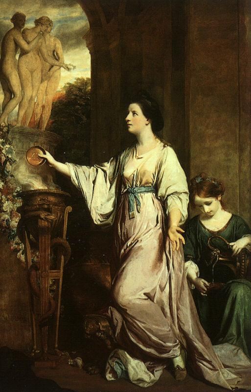 Sir Joshua Reynolds Lady Sarah Bunbury Sacrificing to the Graces Germany oil painting art
