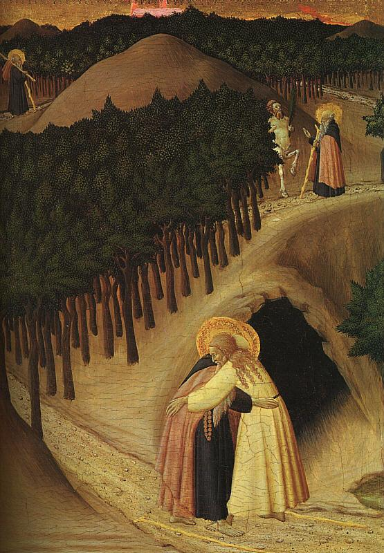 Stefano di Giovanni Sassetta The Meeting of St.Anthony and St.Paul Germany oil painting art