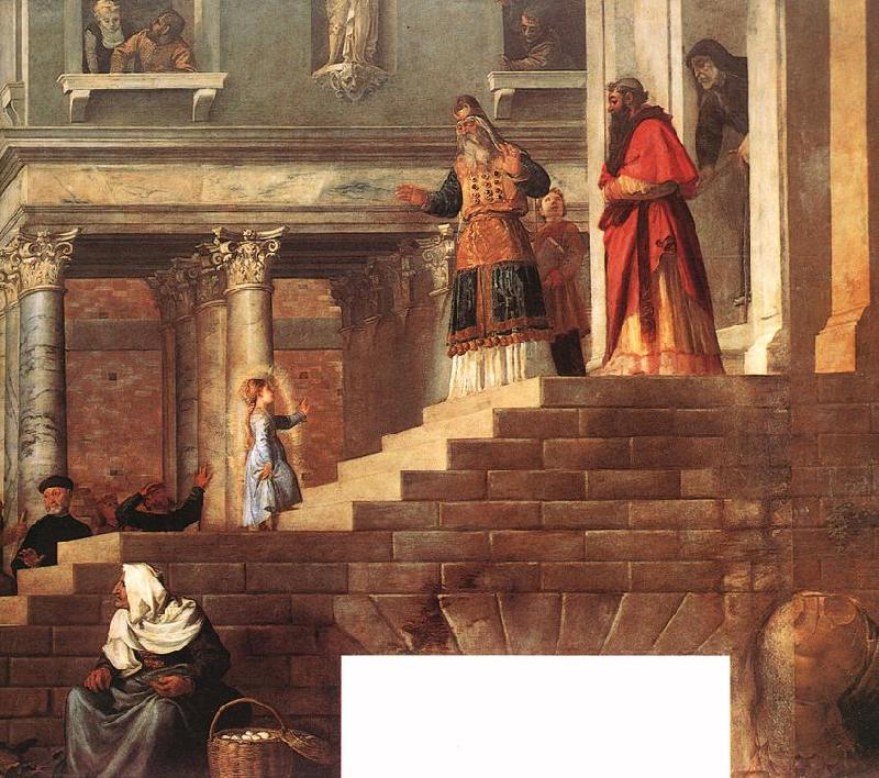TIZIANO Vecellio Presentation of the Virgin at the Temple (detail) er oil painting image