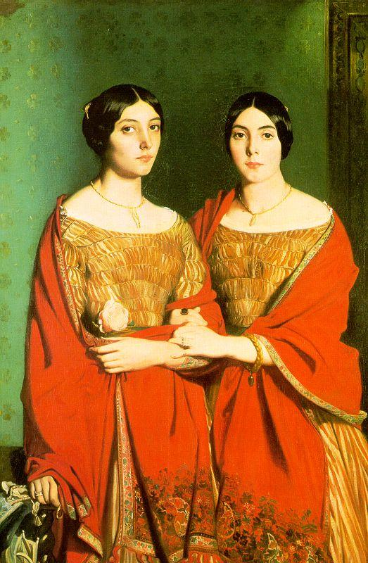 Theodore Chasseriau The Two Sisters oil painting image