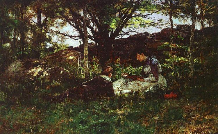 Theodore Clement Steele A June Idyll Germany oil painting art