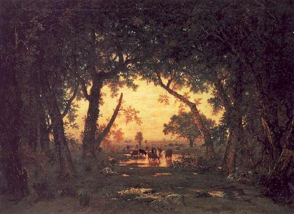Theodore Rousseau The Forest of Fontainebleau, Morning Germany oil painting art