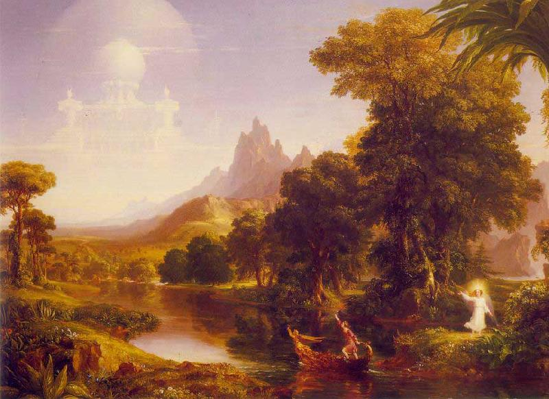 Thomas Cole The Voyage of Life: Youth Germany oil painting art
