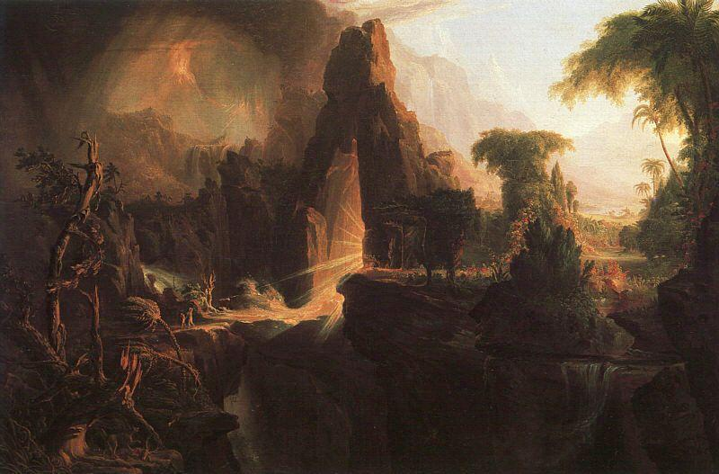 Thomas Cole Expulsion From the Garden of Eden Germany oil painting art