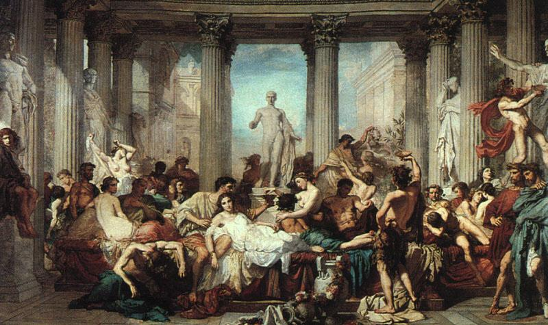 Thomas Couture The Romans of the Decadence oil painting image