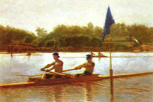 Thomas Eakins Biglen Brothers, Turning the Stake Germany oil painting art