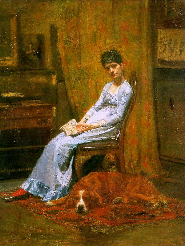 Thomas Eakins The Artist's Wife and his Setter Dog Germany oil painting art