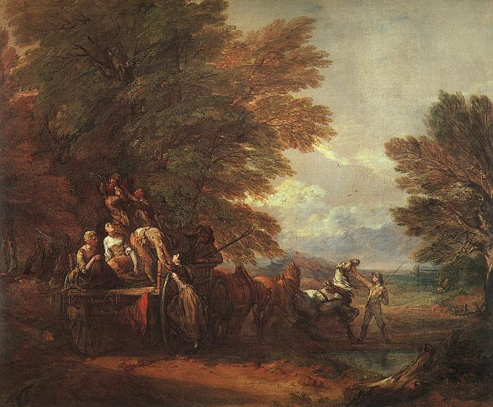 Thomas Gainsborough The Harvest Wagon oil painting image