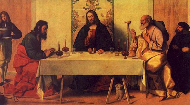 Vincenzo Catena The Supper at Emmaus oil painting image