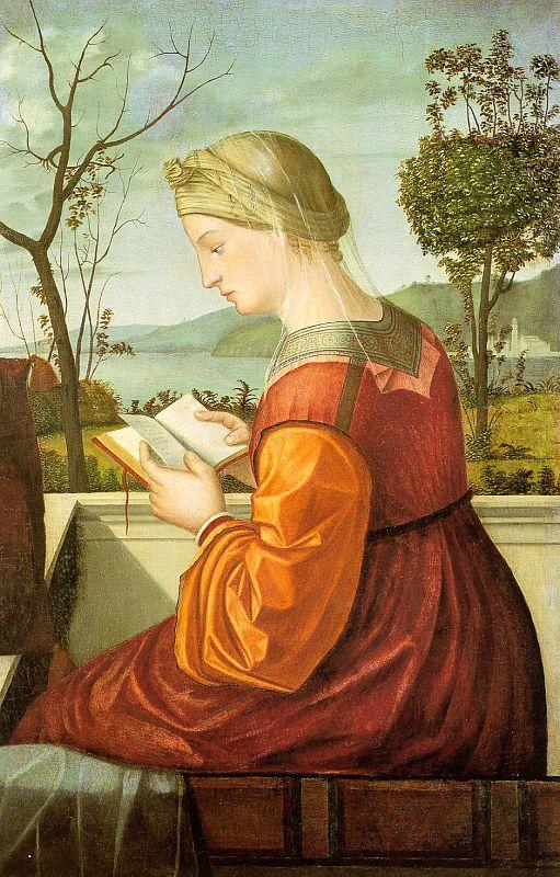 Vittore Carpaccio The Virgin Reading oil painting image