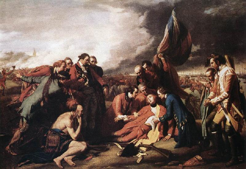WEST, Benjamin The Death of General Wolfe oil painting image